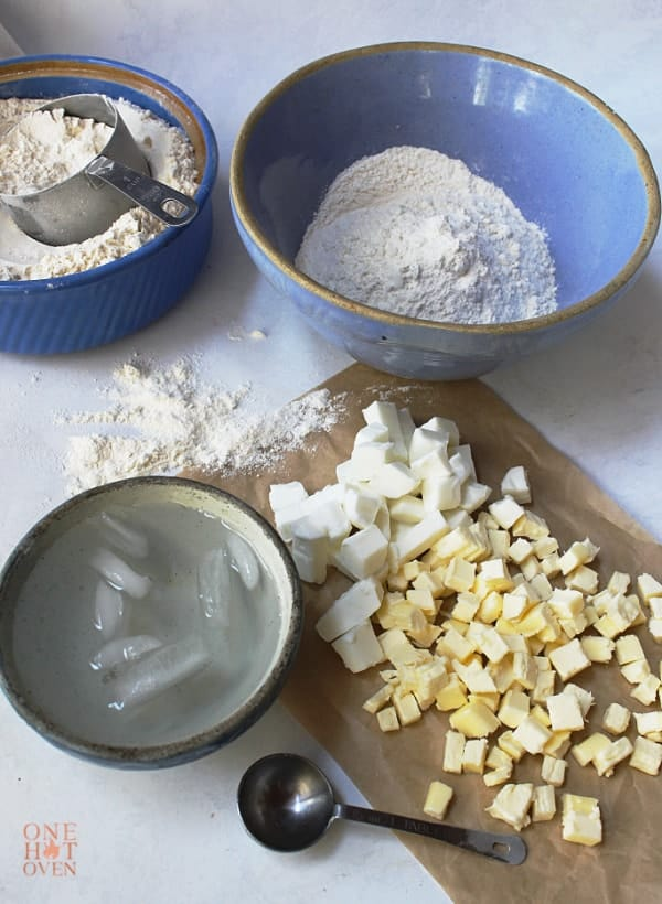 Pie dough ingredients