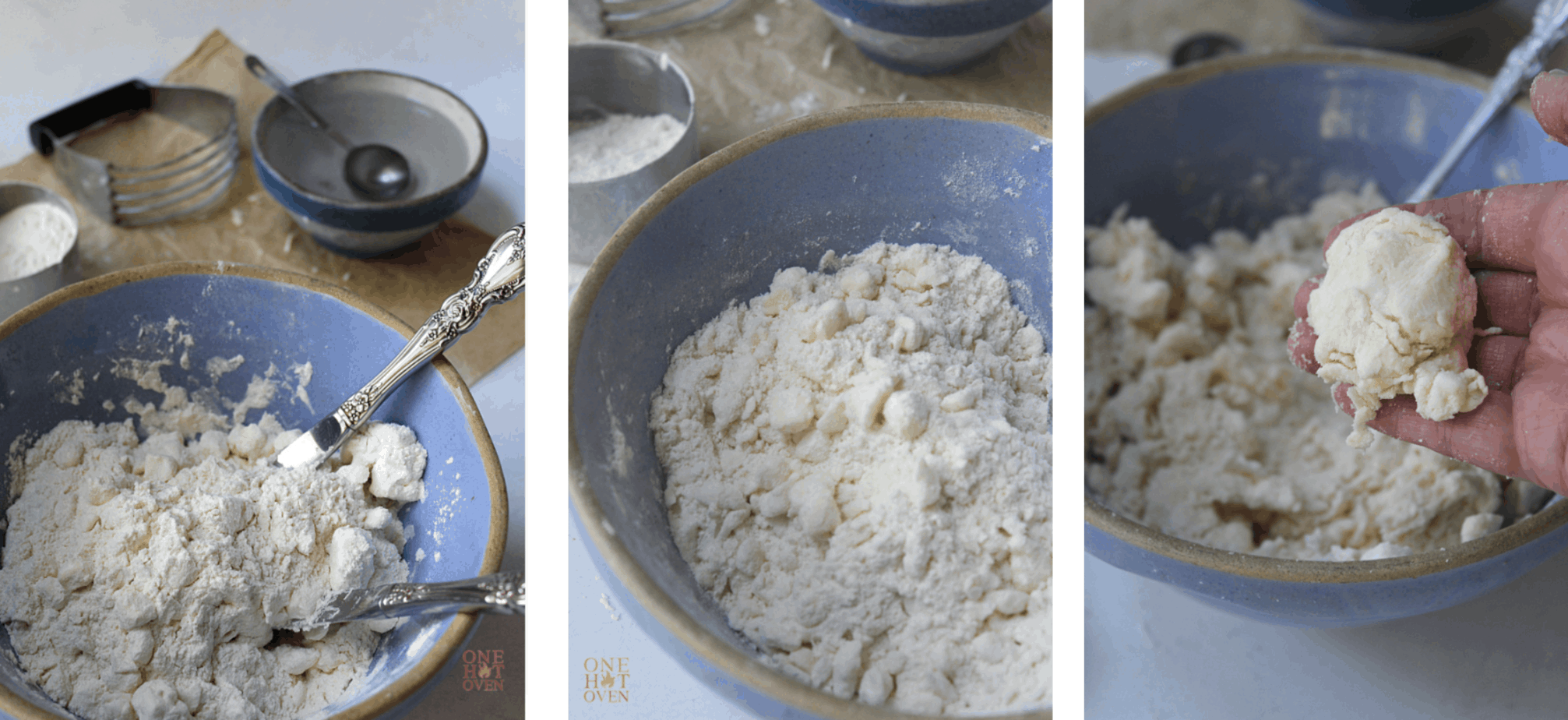 steps for making pie dough