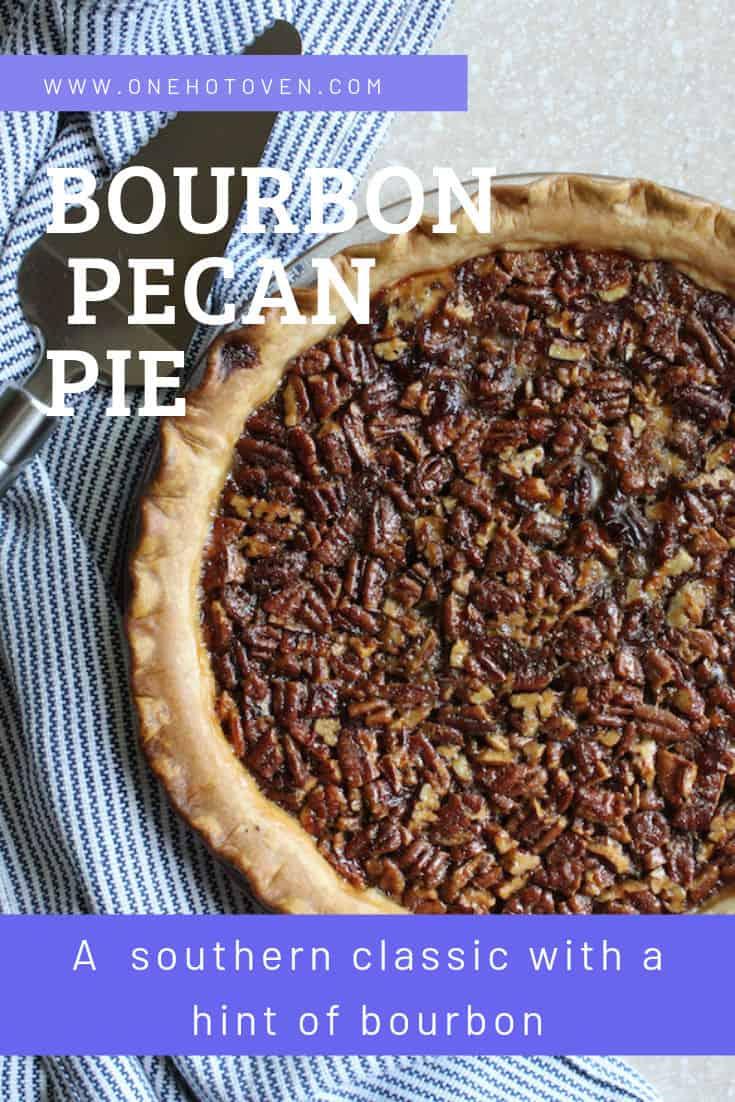 a bourbon pecan pie