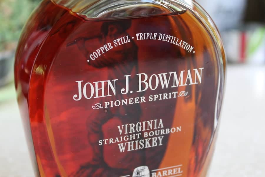 A close up picture of John J. Bowman Bourbon from Virginia