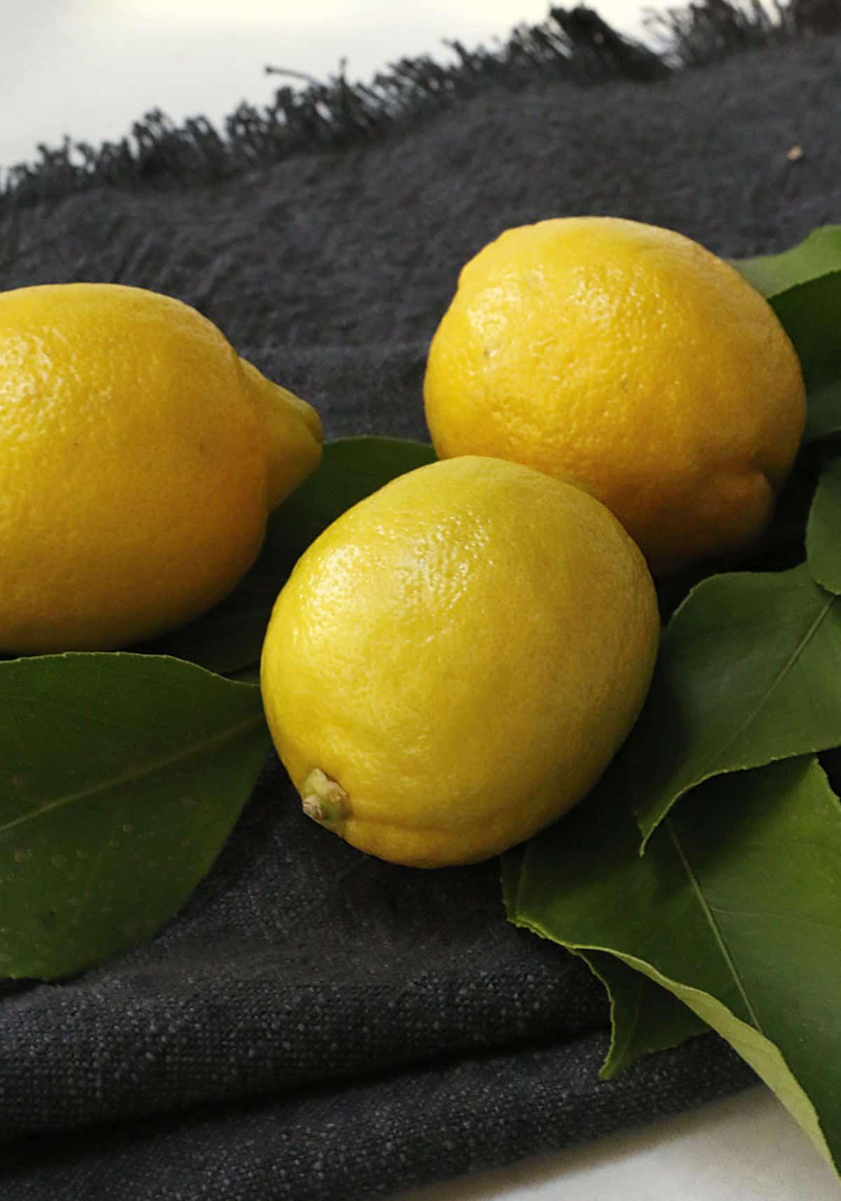 three just picked lemons