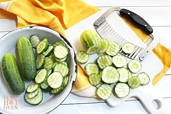 sliced cucumbers for pickles