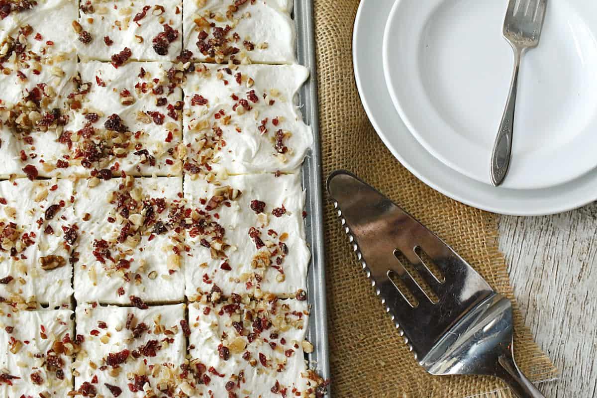 sheet pan cake