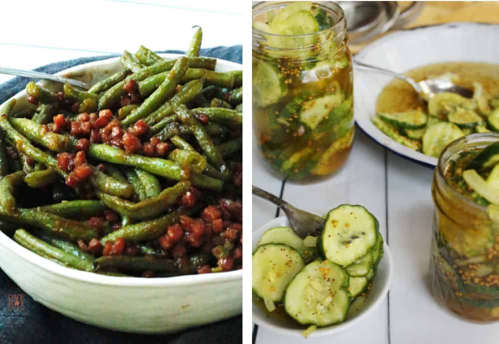 Green Beans and Canned pickles
