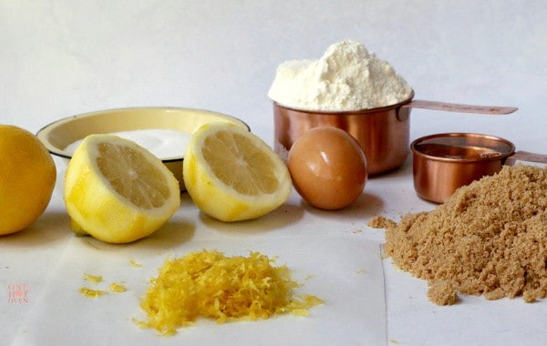 Ingredients to make Chewy Lemon Cookies