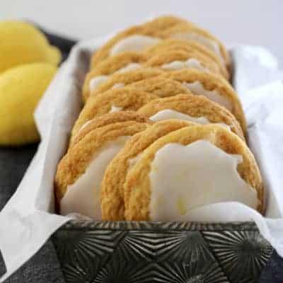 Chewy Iced Lemon Cookies