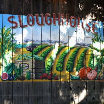 Barn sign for Sloughhouse