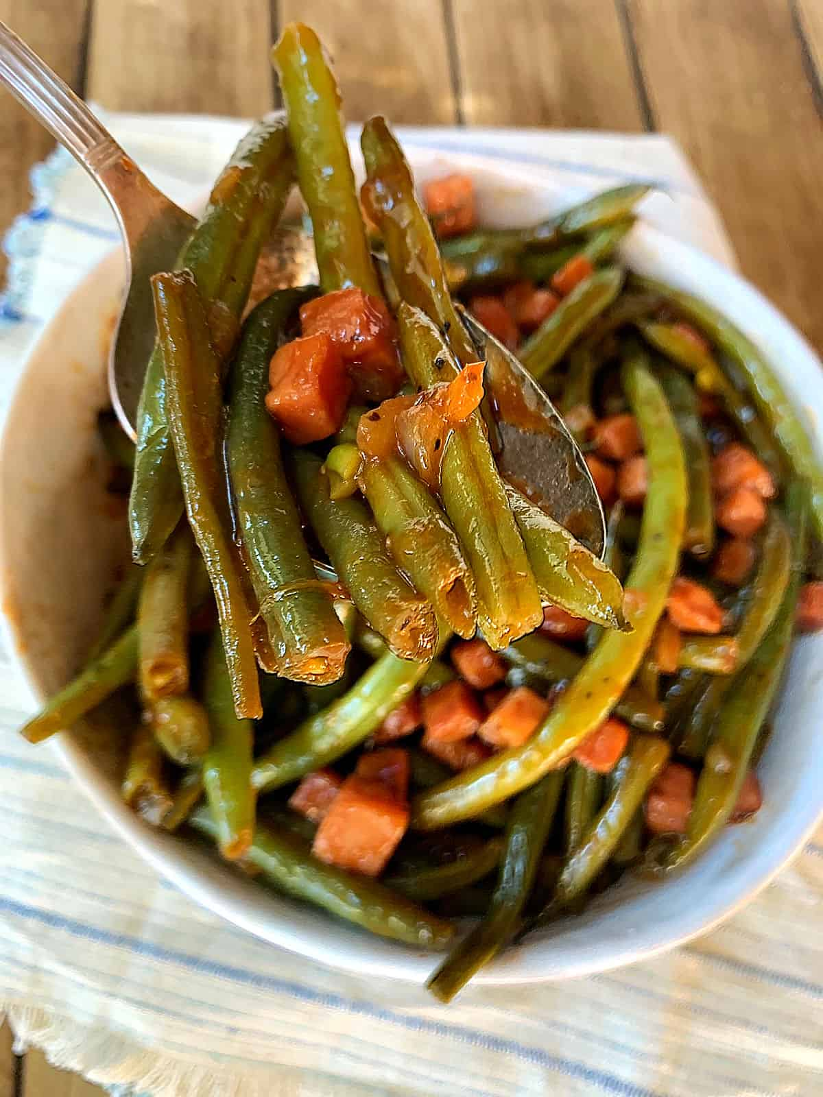 barbequed green beans