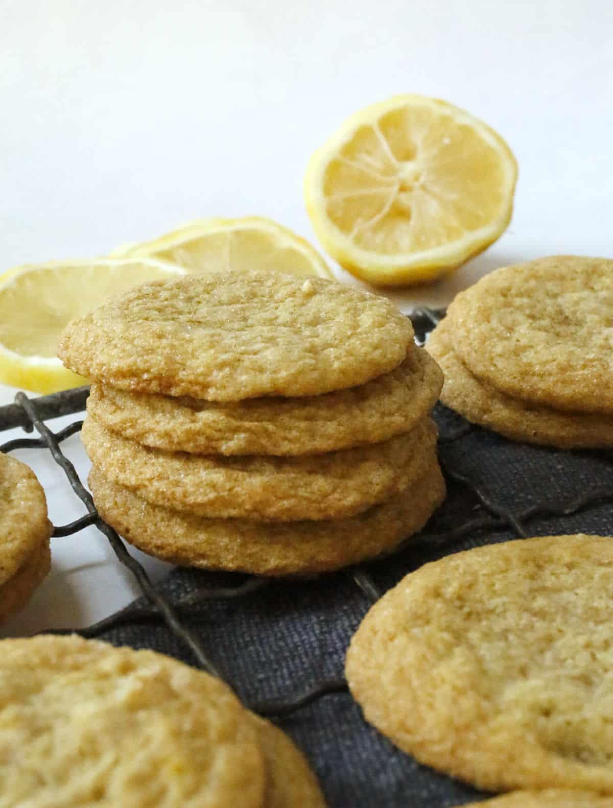 just baked lemon cookies