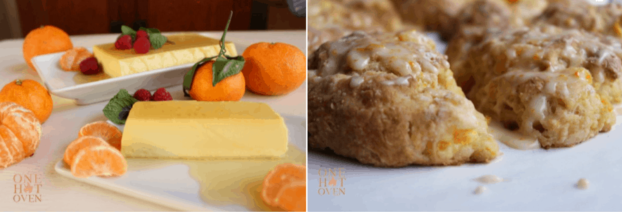 Mandarin Caramel Creme and Scones