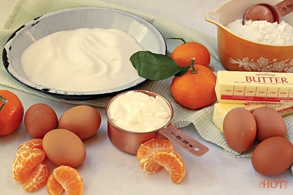 Mandarin Bundt Cake ingredients