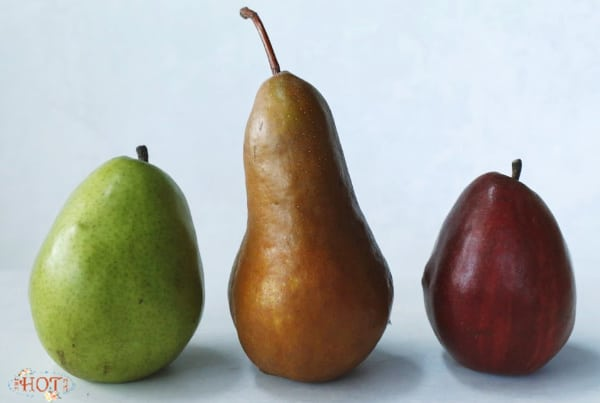 bartlett, bosc and red pear