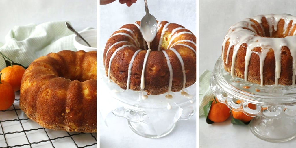 drizzling icing on a bundt cake.