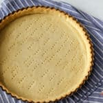 a baked shortcrust pie shell