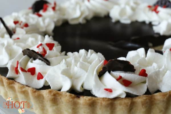 Chocolate Ganache Tart for Valentines Day