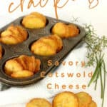 baked cheese crackers in a muffin tin.