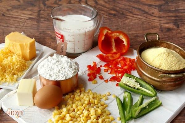 ingredients for skillet cornbread