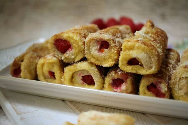 cream cheese and raspberry filled bread