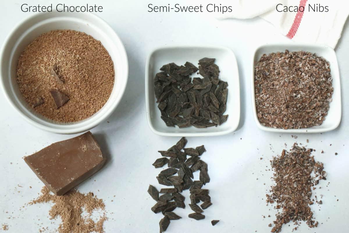 three types of chocolate