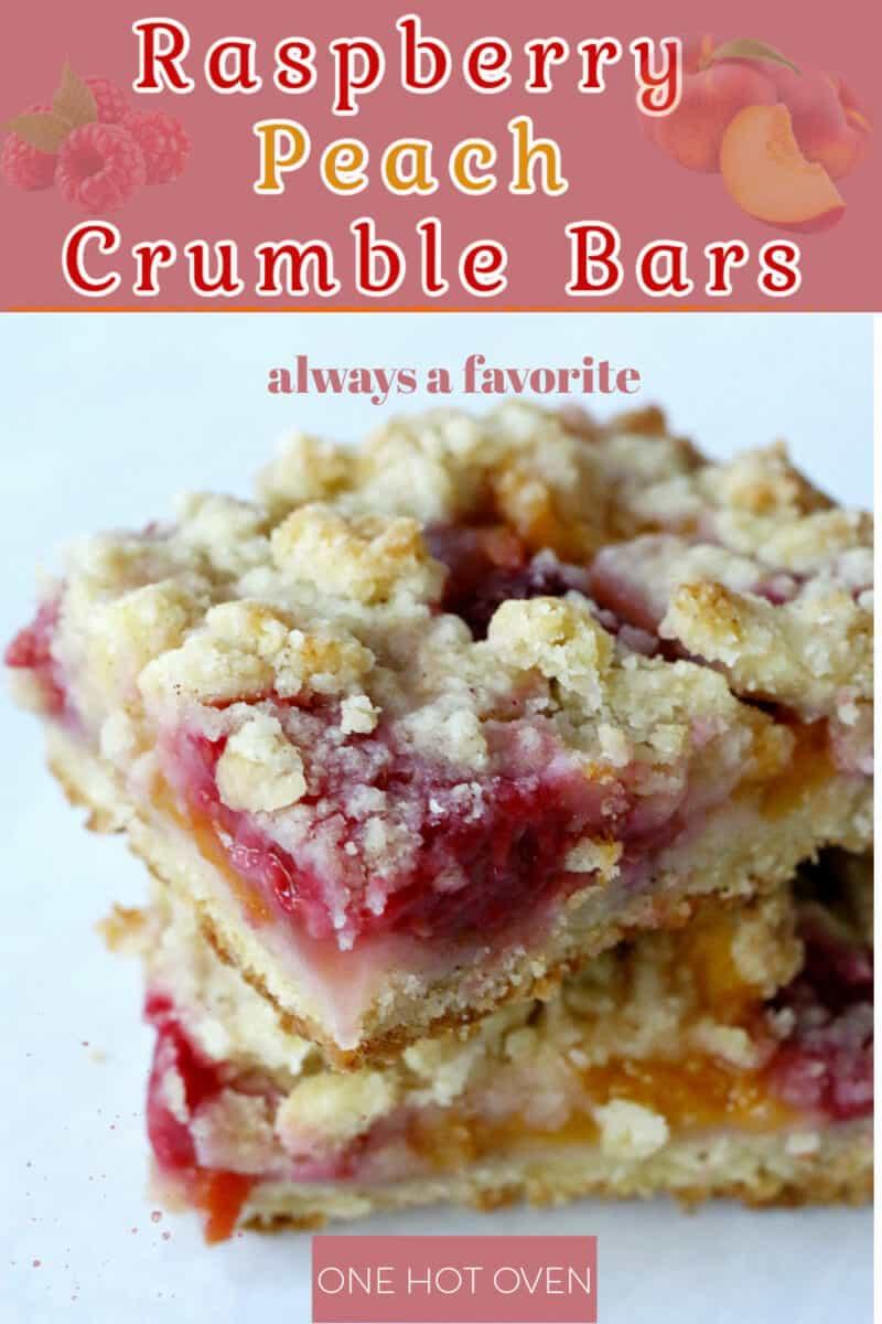 Raspberry peach crumble bars