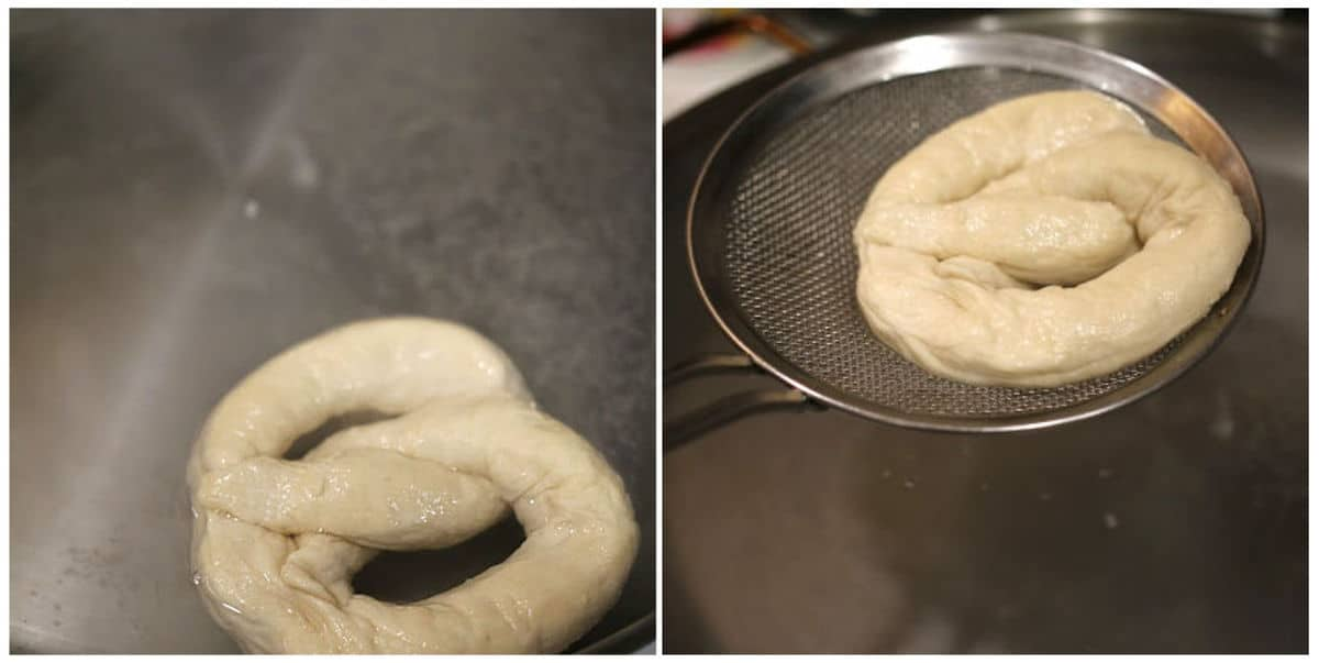 boiling pretzels in water