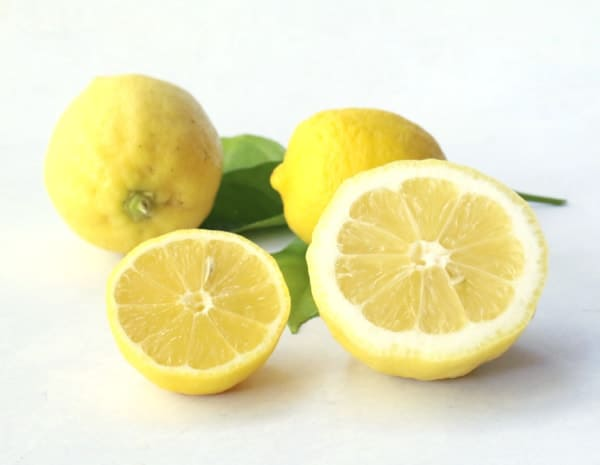 two cut open lemons