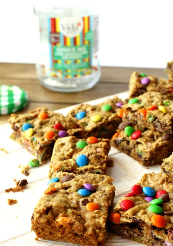 baked M&M bar cookies