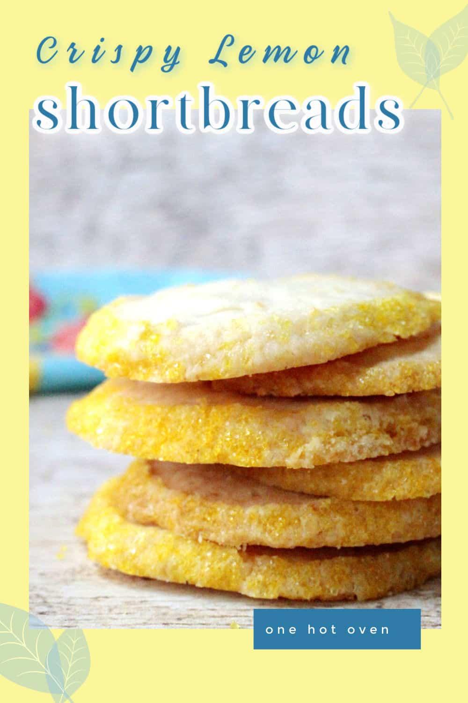 a picture of lemon shortbread cookies