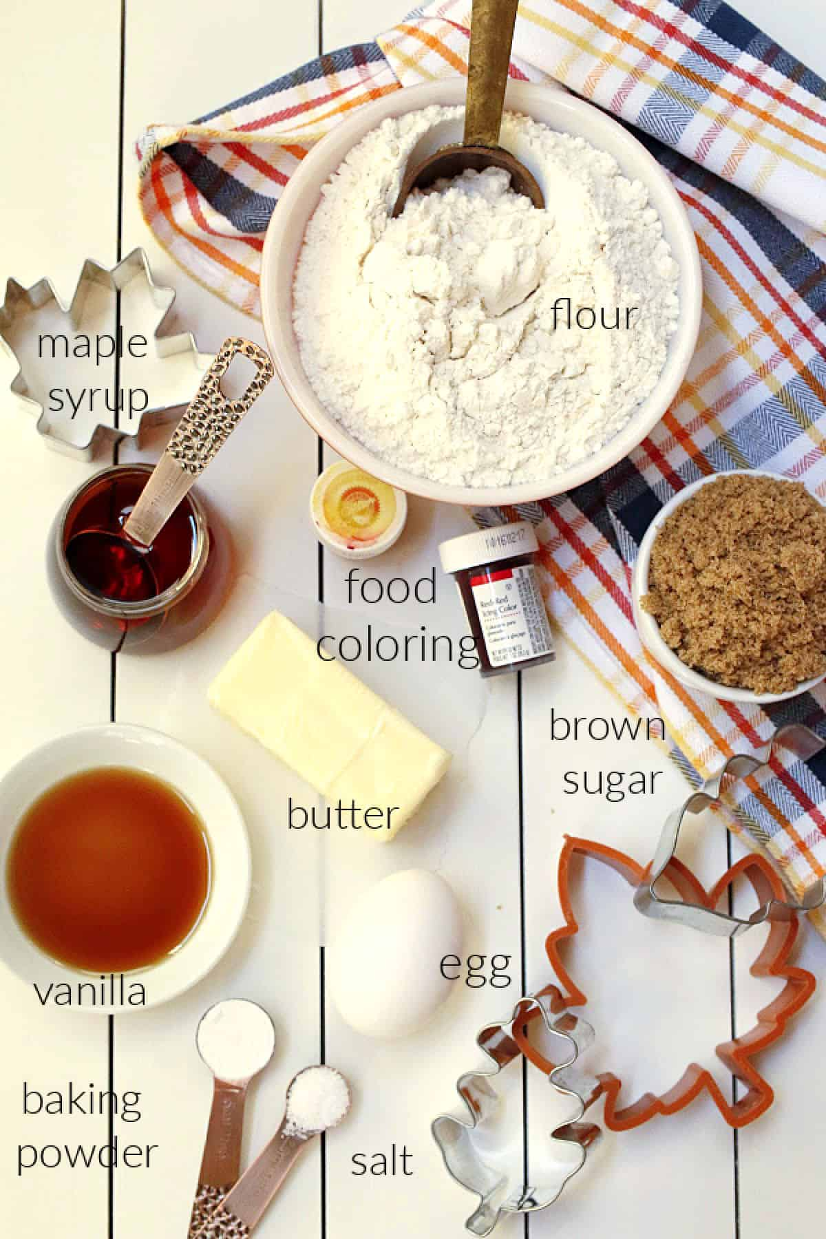 maple cookie ingredients