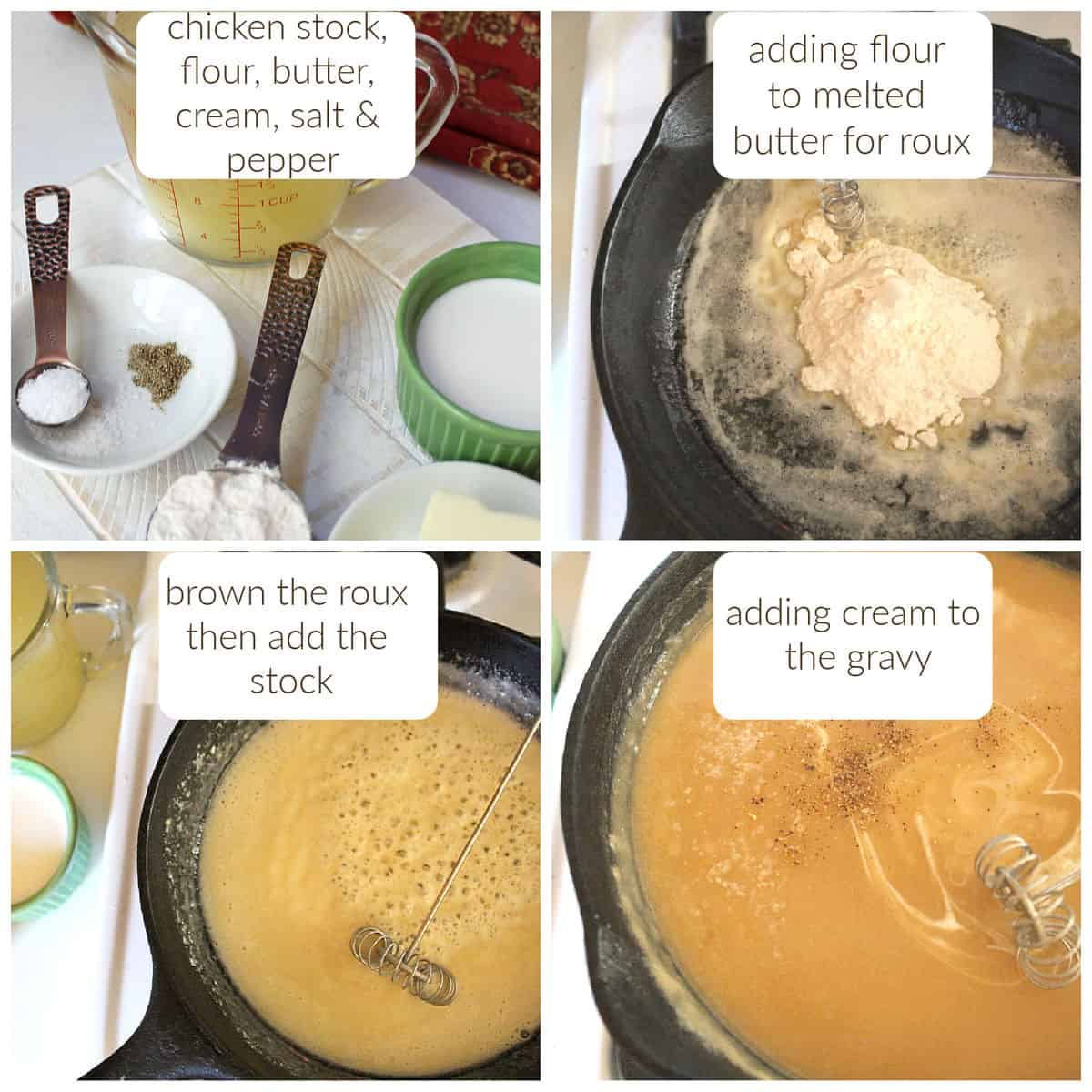 steps for making homemade chicken gravy