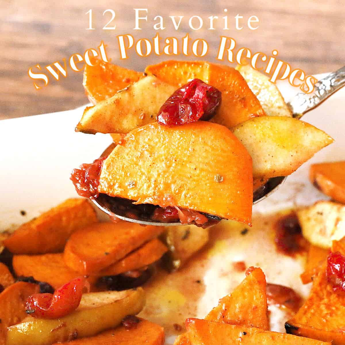 sweet potatoes, apples and cranberry casserole