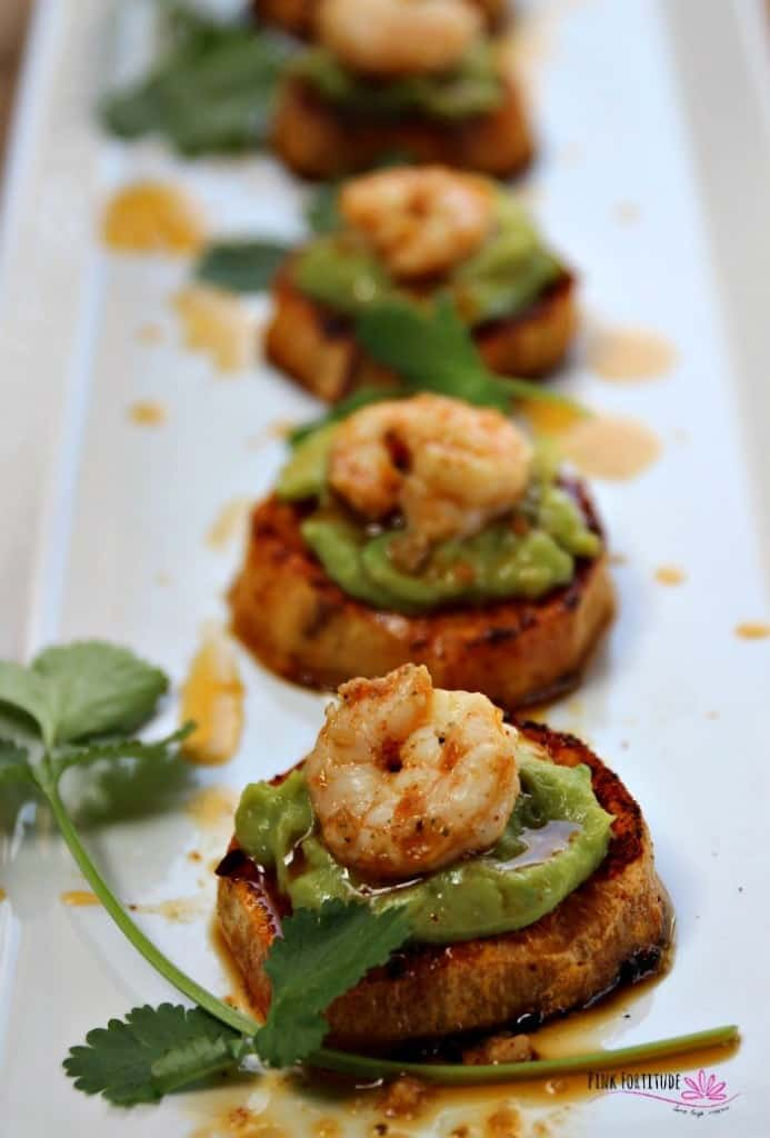 Sweet potato shrimp bites