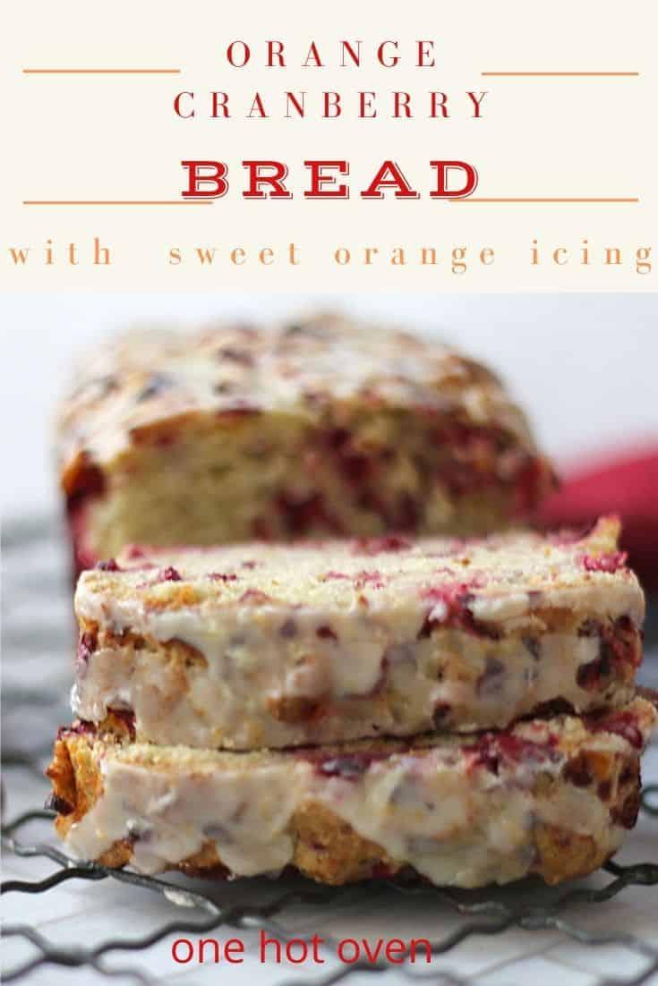 sliced orange cranberry bread