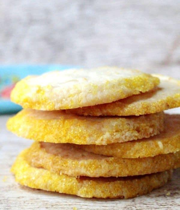 stack of lemon cookies