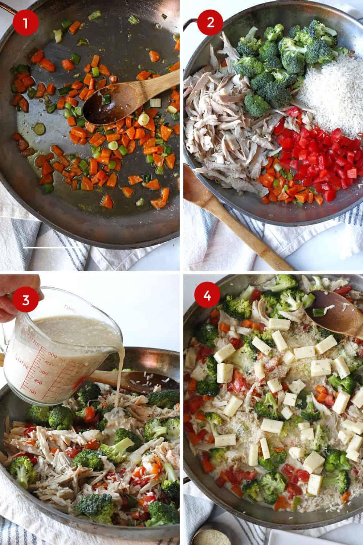 steps for making a chicken casserole