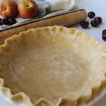 an unbaked pie shell