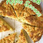 Apple scones Pinterest Pin.