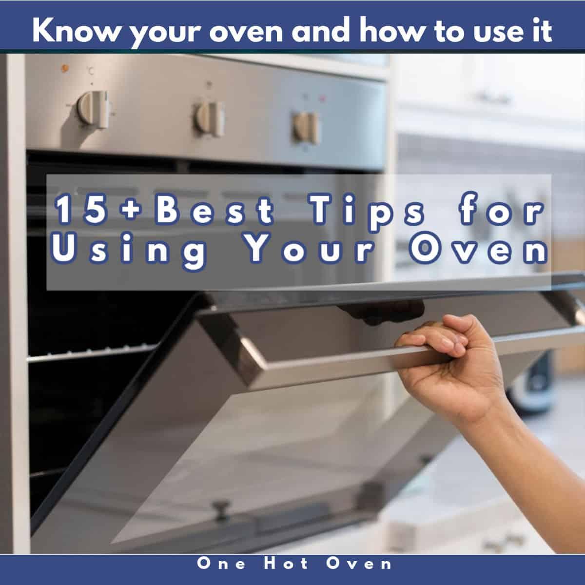 An open oven door.
