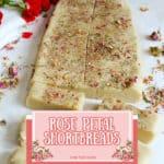 Rose petal shortbread cookies.