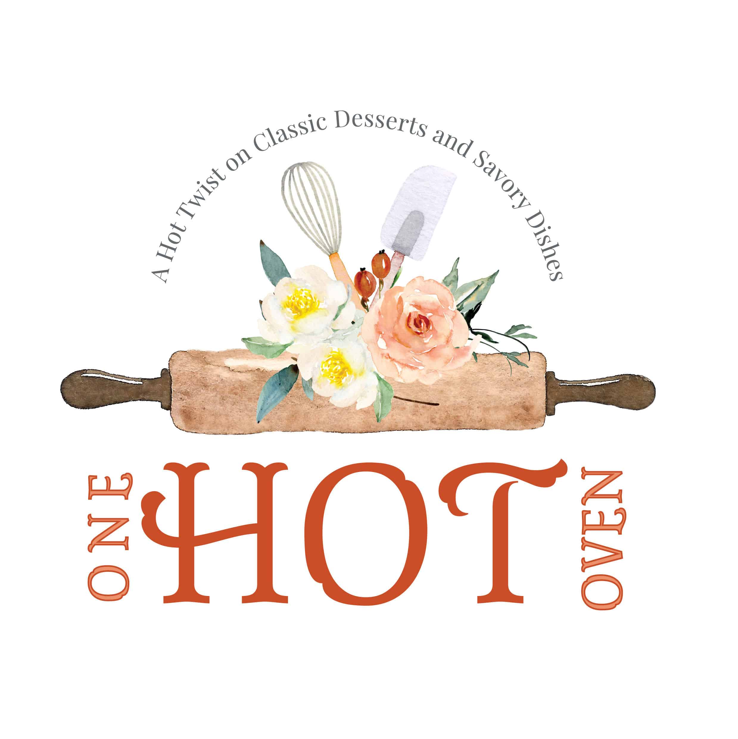 One Hot Oven logo with rolling pin.