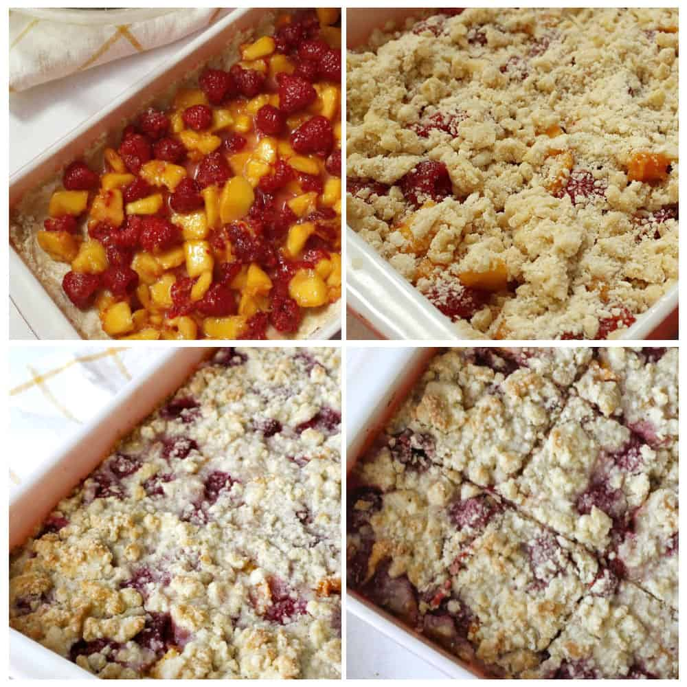 peaches and raspberry cookies
