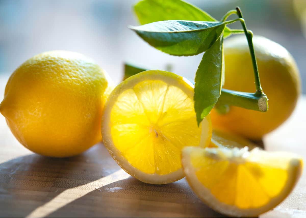 cut up lemons.