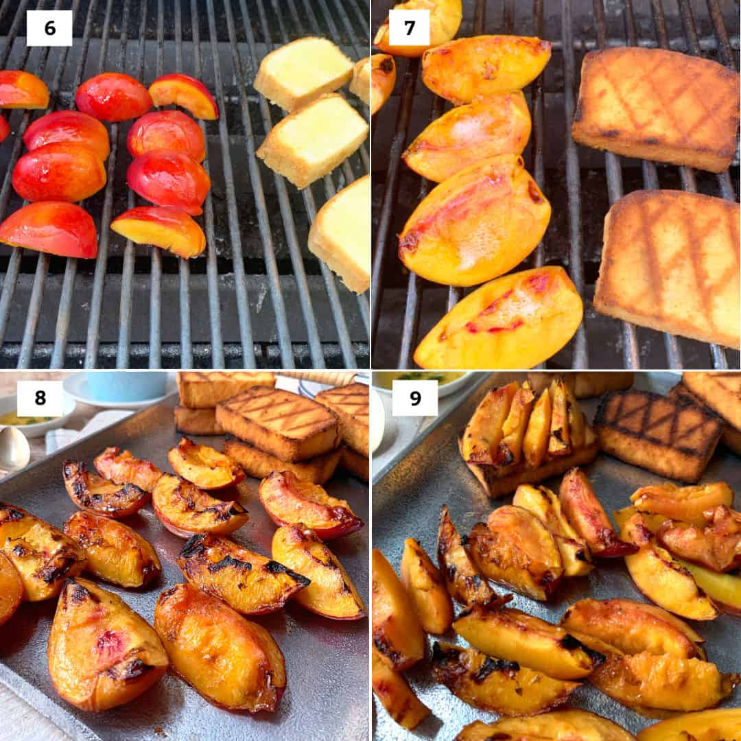 grilling peaches and poundcake